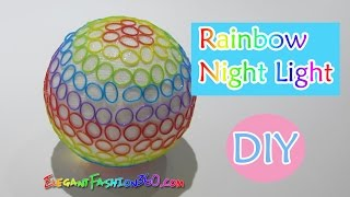 DIY: What To Do with leftover Loom Bands/Rainbow Loom Bands Night Light Tutorial