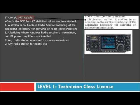 Amateur  Radio (HAM) Technician Class Training - Part 2 By AF5DN