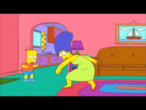 Marge krumping to Dubstep
