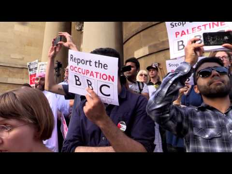 Gaza demo to protest at the BBC's lies