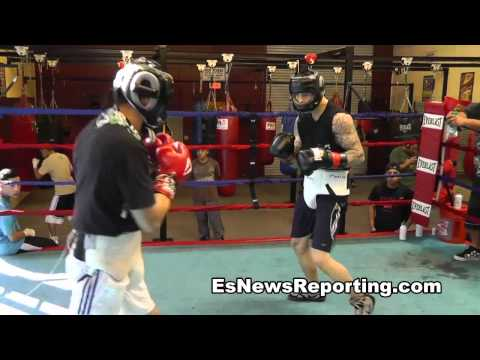 Pelos Sparring At The Robert Garcia Boxing Academy - esnews boxing Image 1