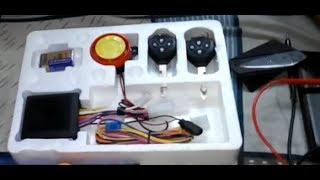 Đập hộp - Chống trộm xe máy Toyota có pin 9V - ( Lazada)