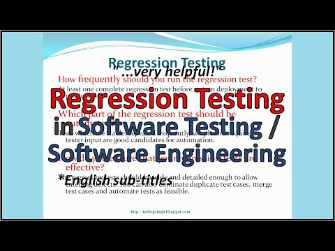 Regression Testing - Software Testing Tutorial