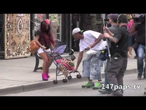 Snooki and Jwoww with fake babies in Jersey City , New Jersey