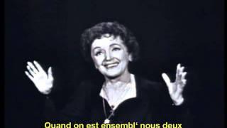 Edith Piaf Mon Manège à Moi French English Subtitles