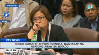 Ronnie Dayan at Kerwin Espinosa, nagharap na ngayong araw sa Senado