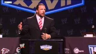 WWE WrestleMania XXVII Press Conference  Triple H