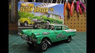 Revell 1/25 1957 Ford Sedan Gasser 2n1 Scale Model Kit Build Review 85-4478