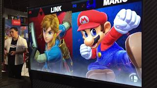 Link vs Mario - Armageddon Expo 2018 Super Smash Bros Ultimate Demo