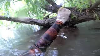 Подводная охота в мутной воде