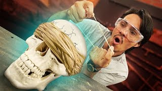 Will Rubber Bands Crush A Skull?!
