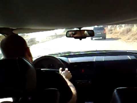 Run up Roumie's old back road in a Mercedes C36AMG/// Location: Lebanon Video