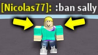 BANNING ONLINE DATERS WITH ADMIN COMMANDS! (Roblox)