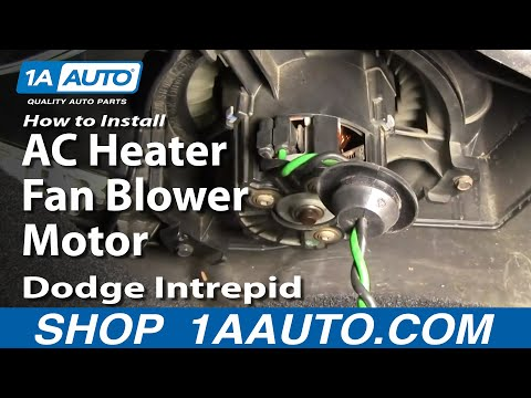 How To Install Repair Replace AC Heater Fan Blower Motor Dodge Intrepid 98-04 1A