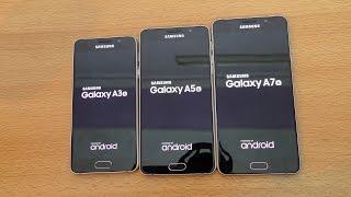 Samsung Galaxy A7 vs A5 vs A3 (2016) - Speed Test (4K)