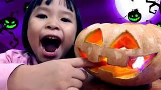 Bí Ngô Halloween ♥ How To Make A Pumpkin ♥ Bé Sữa Bé Kem ♥