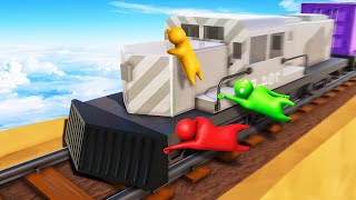 HOLD ON TO THE 250MPH TRAIN! (Gang Beasts)