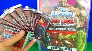 Topps Hero Attax Marvel Cinematic Universe 2016 Collectors Cards Pack Opening Toy Review TV