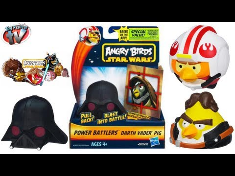 Angry Birds Star Wars Power Battlers Toy Review. Hasbro