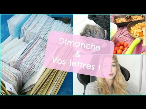 Dimanche & Vos lettres ♡