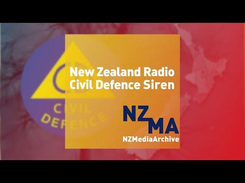 NZ Civil Defence Radio Siren