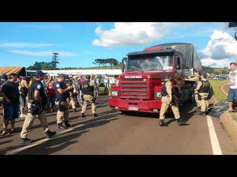 Mobilização dos caminhoneiros em Xanxerê