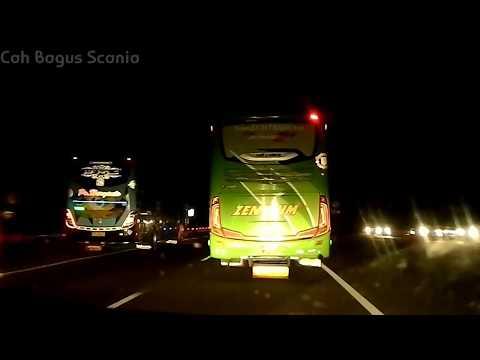 konvoi 4 Bus,saling kejar Hr 26 Tatto Vs Pahala Kencana-2 Zentrum