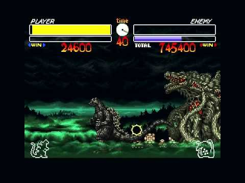 [SFC]Godzilla - Kaijuu Daikessen (J) Godzilla Playthrough without atomic ray