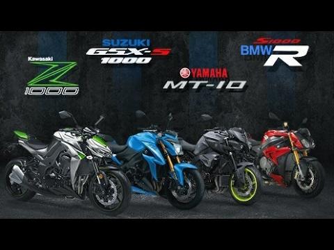 TOP SPEED NAKED BIKE 1000 CC : Z1000 VS MT-10 VS GSX-S1000 VS CB1000R VS S1000R