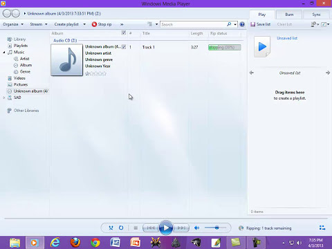 Cara Ripping Audio CD Menggunakan Windows Media Player