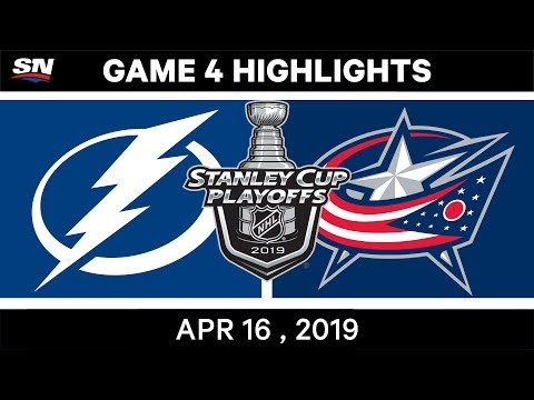 NHL Highlights | Lightning Vs Blue Jackets, Game 4 – April 16, 2019