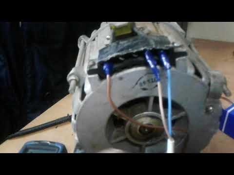 Как сделать обороты на двигателе от стиральной машины 494