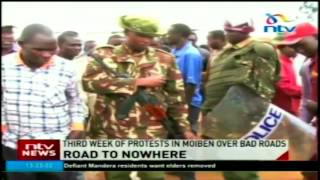 Third week of protests in Moiben over bad roads