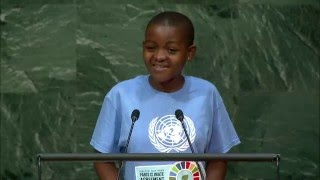 Getrude Clement (Youth Representative) High-level Signature Ceremony for the Paris Agreement