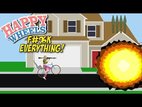 SHOOT EVERYTHING IN YOUR PAF!!! [HAPPY WHEELS] [MADNESS!]