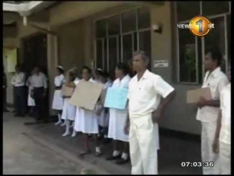 Hospital employees protest against alleged assault