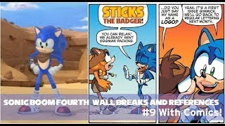 Sonic Boom Fourth Wall Breaks & References #9 WITH COMICS! (60fps)