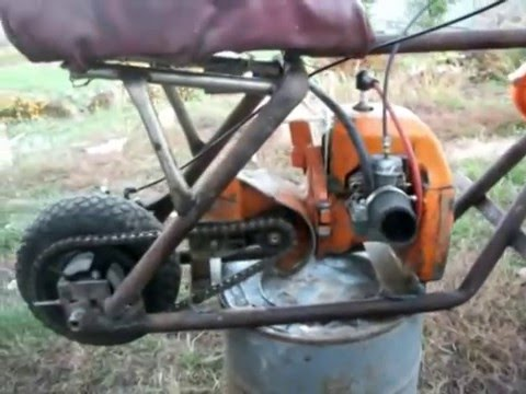Мопед из бензопилы(Moped from chainsaw)