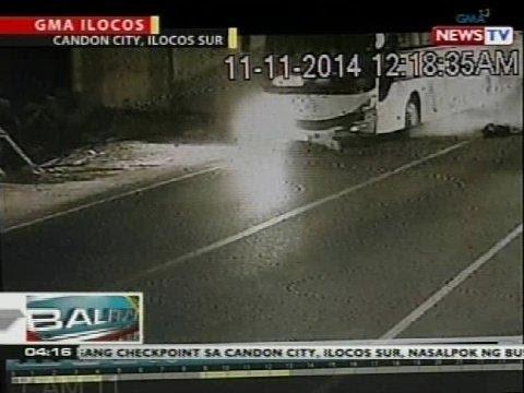 BP: Bus at motorsiklo, nagsalpukan sa Candon City, Ilocos Sur; rider at angkas, patay