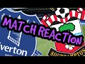 EVERTON 1 V SOUTHAMPTON 2 - SPEECHLESS BY THIS