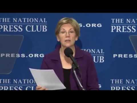 Sen. Elizabeth Warren speaks at The National Press Club