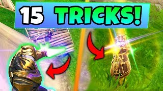 Fortnite THANOS Gameplay: 15 TIPS AND TRICKS for WINNING with INFINITY GAUNTLET (Battle Royale Skin)