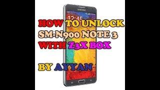 How to unlock samsung galaxy note 3 N900a 5.0 unlock z3x