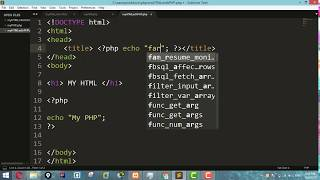 PHP Tutorial For Beginners 6 - Embedding HTML and PHP