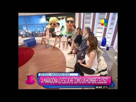 Nazarena Vélez  opinó del escándalo Maradona y lo trató de celoso