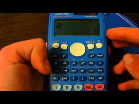 CASIO fx-85GT PLUS Scienific Calculator Review!