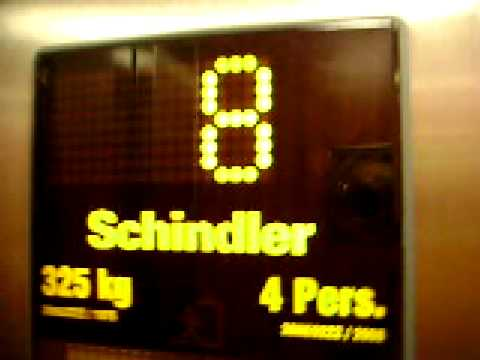 Old OTIS modernized elevator/lift (Schindler)