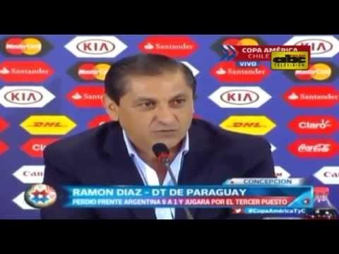 Conferencia de prensa de Ramón Díaz - Post Paraguay 1 vs. Argentina 6