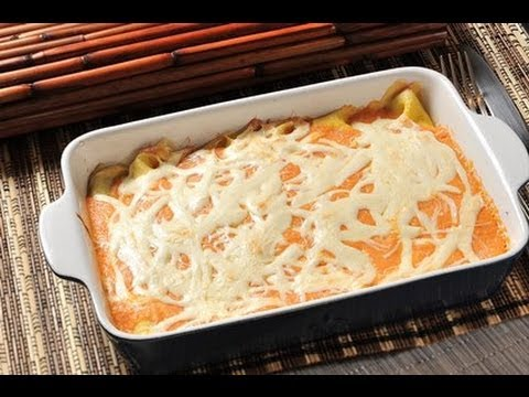 Crepas rellenas de espinacas y champiñones - Crepe