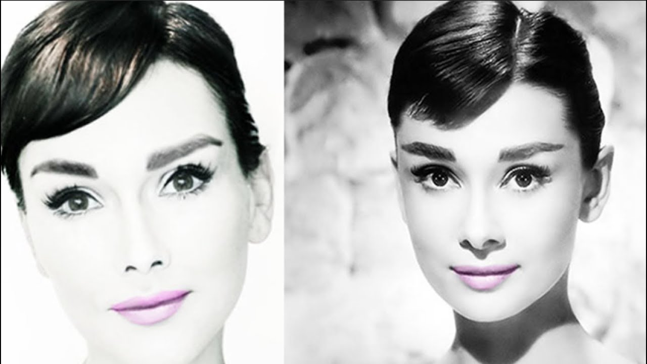 audrey hepburn makeup tutorial how to look like audrey hepburn youtube. Black Bedroom Furniture Sets. Home Design Ideas